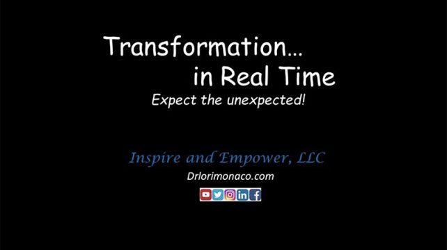 Transformation In Real Time - Feeling Better